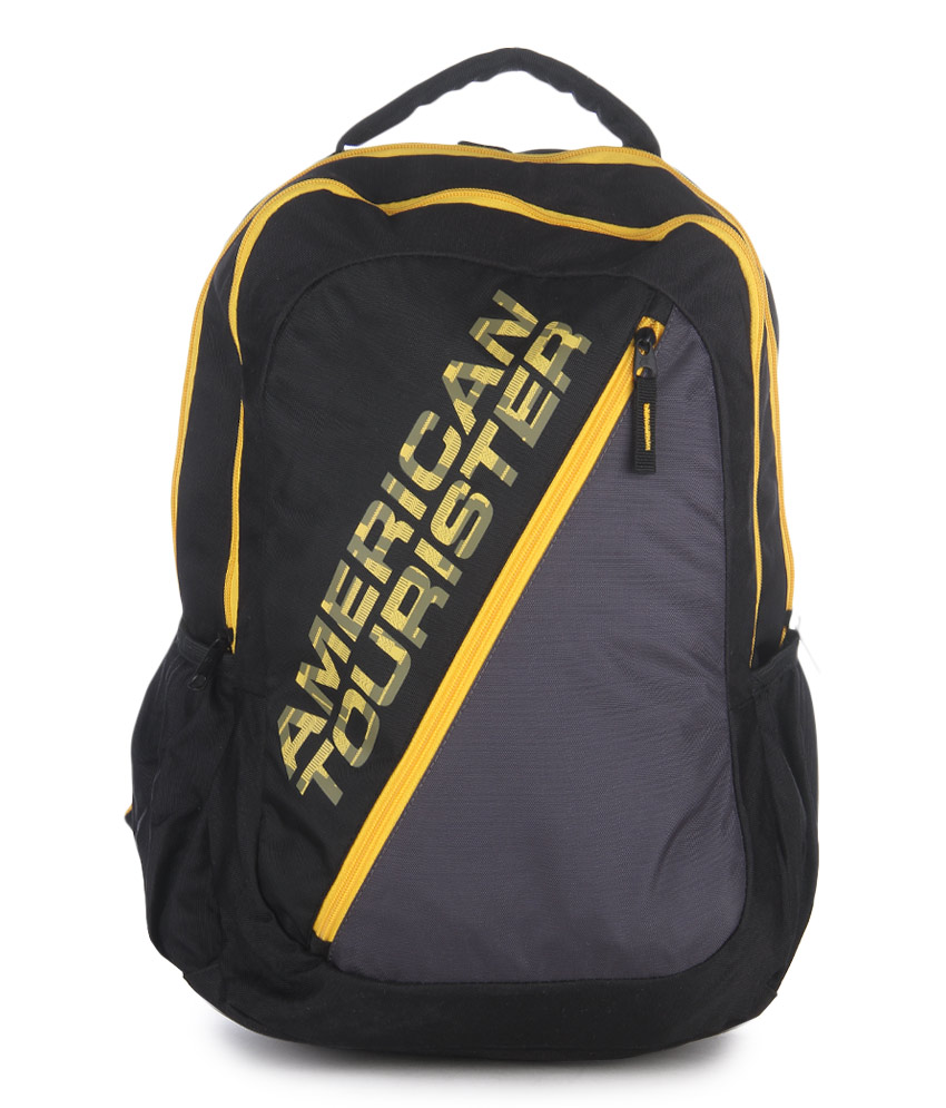 ... american tourister urbane 2016 black polyester backpack kbn bags ... bc175bac59ea5